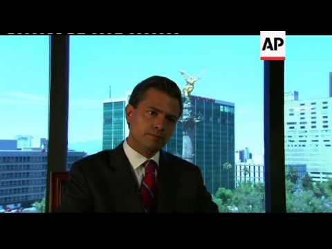 AP interview with leading presidential candidate Enrique Pena Nieto