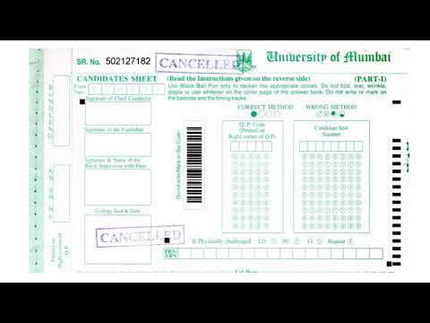 MUMBAI UNIVERSITY ANSWER SHEET SAMPLE