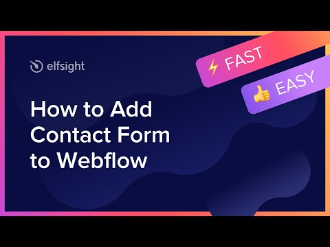 How To Create Contact Form Widget On Webflow (2021)