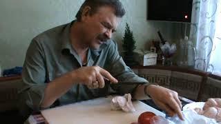 Булатный кухонный нож от мастерской Династия Knife