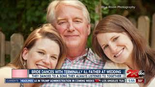 Bride dances with terminally ill father
