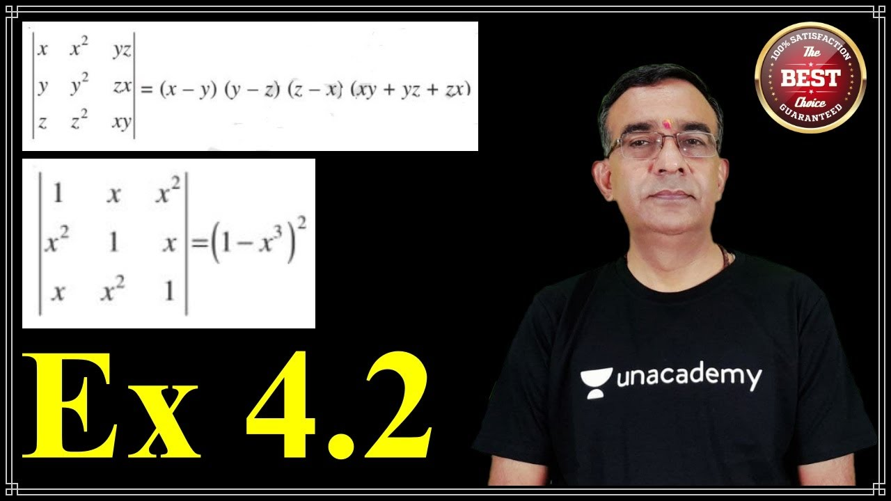 ncert class 12 maths determinants solutions exercise 4.2