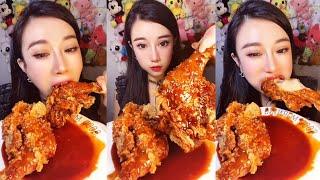 불닭치킨 먹방 | 중국인 먹방 | 멕시카나 불닭치킨 |…