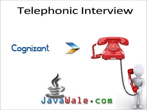 Telephonic Interview @ Cognizant for Java Developer JavaWale com