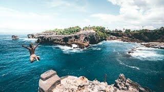 13 METER BACK FLIP AT BLUE LAGOON ON NUSA CENINGAN - BALI, INDONESIA