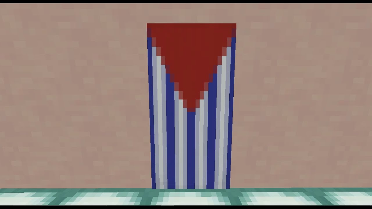Minecraft How To Make A Cuba Flag Banner Youtube