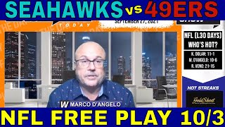 NFL Picks and Predictions | Seahawks vs 49ers Betting Preview & Free Play | WTT Clips