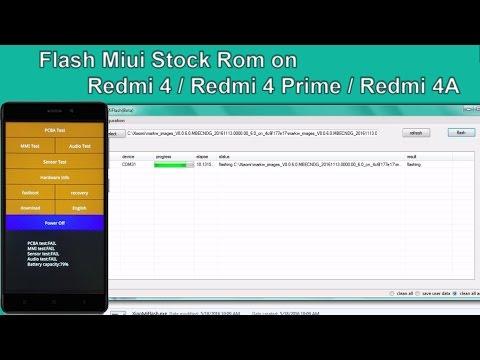 Flash/Unbrick Redmi 4/Prime/4A | Flash Fastboot Miui Rom Redmi4