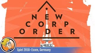 New Corp Order — game overview at SPIEL '18