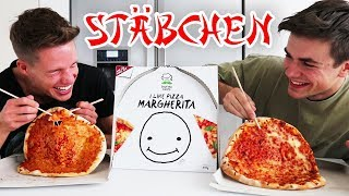 Luca-Pizza WETTESSEN mit STÄBCHEN 🍕 😱
