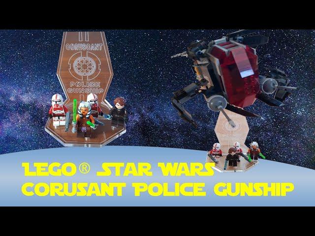 Lego Star Wars Corusant Police Gunship 75046 (mit Ständer von RS-Arts)