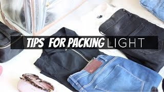 Pack With Me : Tips For Traveling Light | StylesByFash