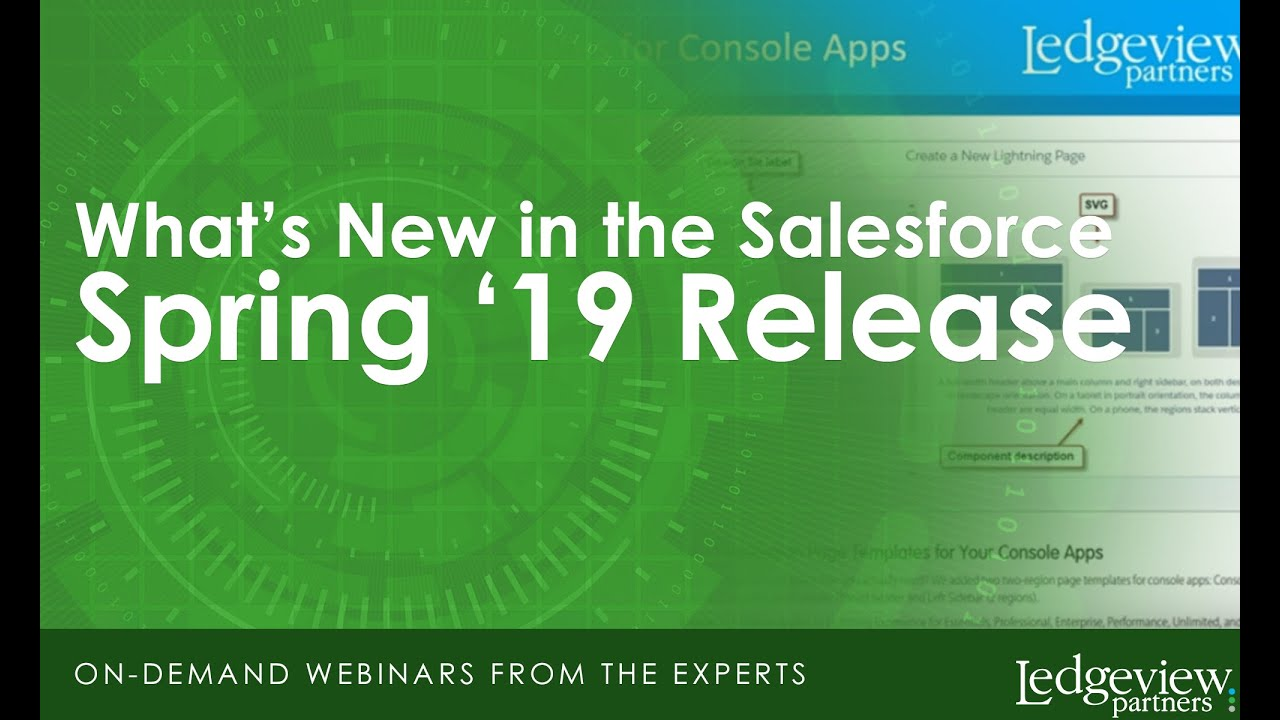 What's New in the Salesforce Spring '19 Release