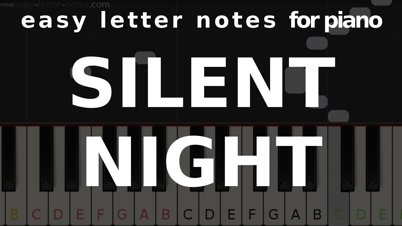 Silent night – with finger numbers