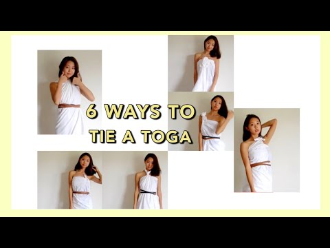 6 WAYS TO TIE A TOGA - With a single bed...