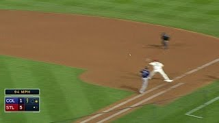 COL@STL: Peralta, Kozma combine to turn a double play