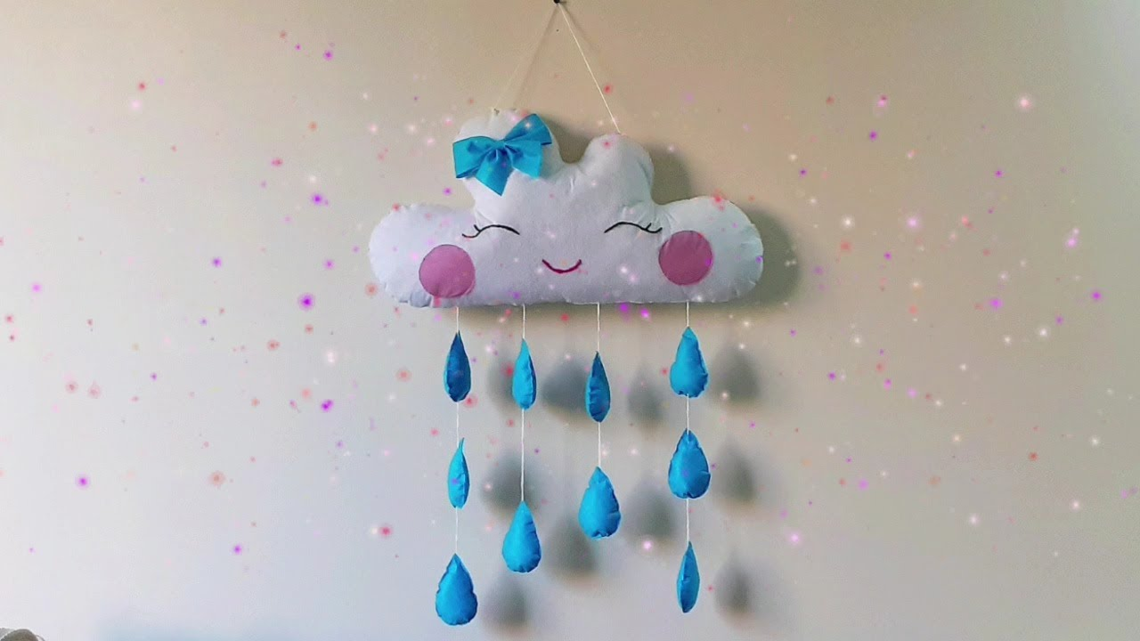 DIY Felt Cloud Wall Hanging | Wall Decoration Ideas | Felt Crafts