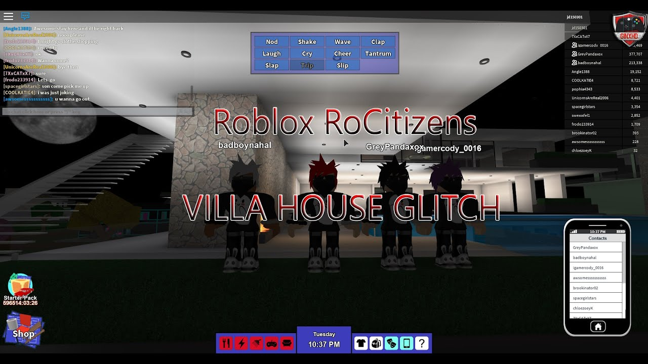 Roblox Rocitizens Villa House Glitch 2016