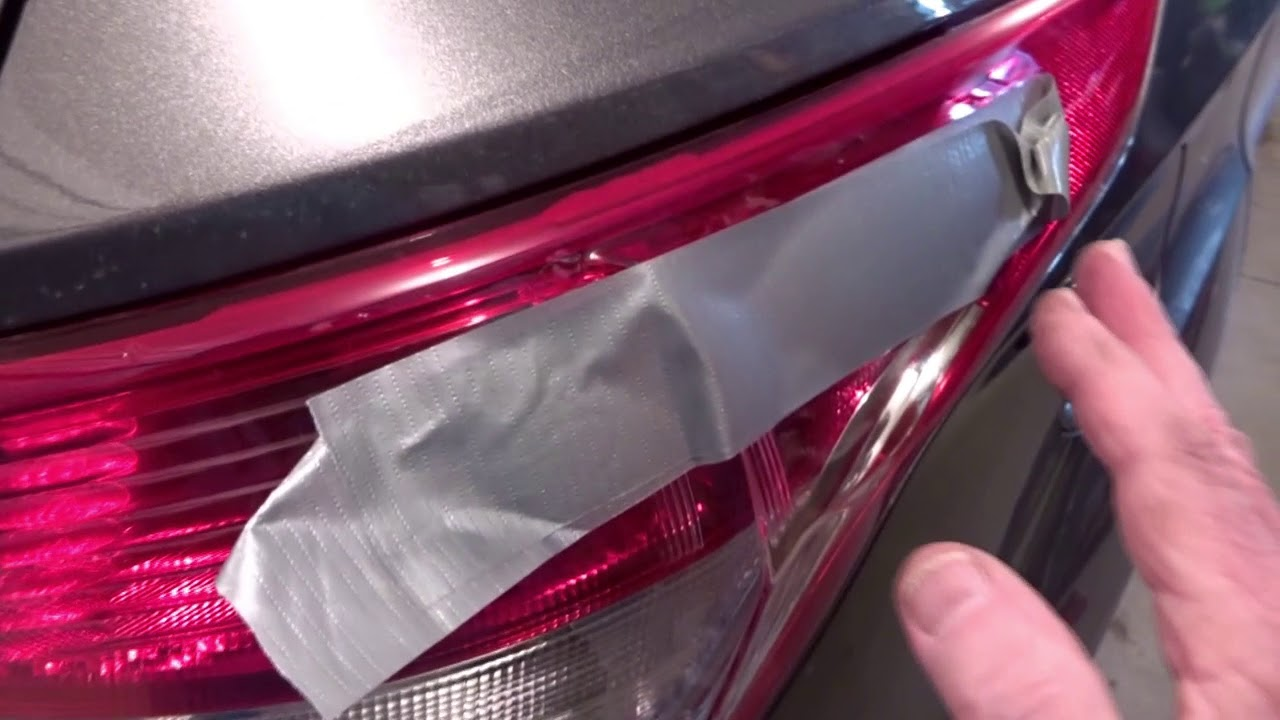 How To Remove Replace Ford Escape Tail Light Cover BEST TRICK!!!