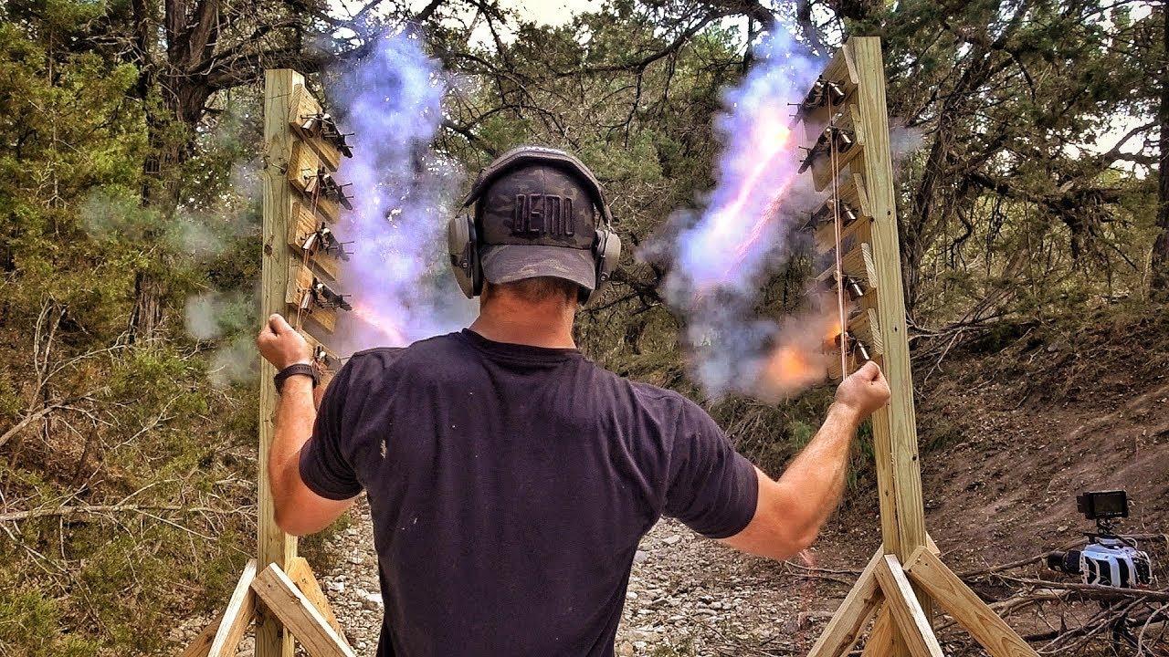 Одновременный выстрел из 10 револьверов! | Разрушительное ранчо | Перевод Zёбры
