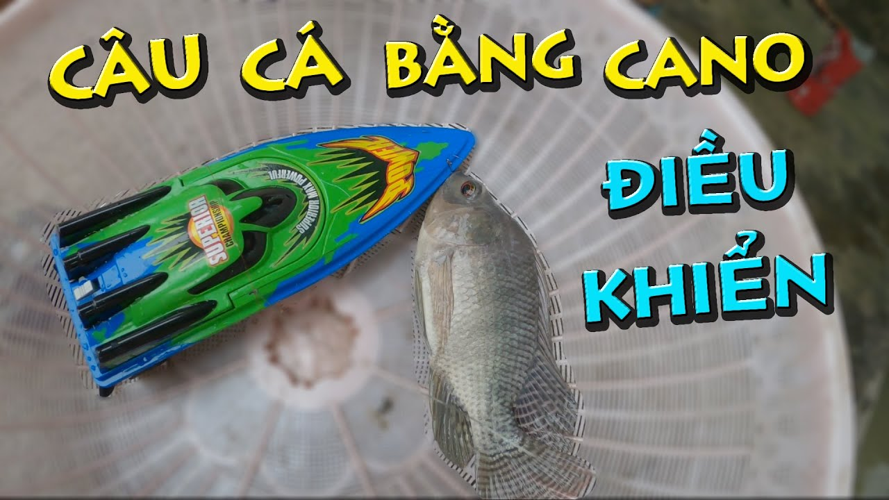 Anh Già Vác Cano Điều Khiển Từ Xa Đi Câu Cá   Fishing With Cano RC   Thái Già Vlogs