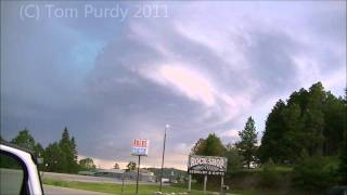 Amazing structured storm and hail near Custer South Dakota June 25th 2011