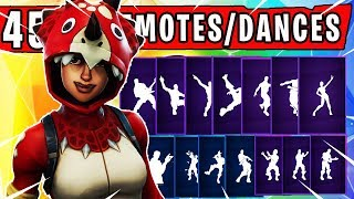 "Fortnite ""TRICERA OPS"" SKIN Showcased with 45 Dances/Emotes 