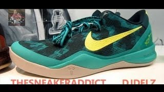 29b709bed723 Nike Kobe 8 Supernatural Teal Sneaker Review With  DjDelz  HotOrNot