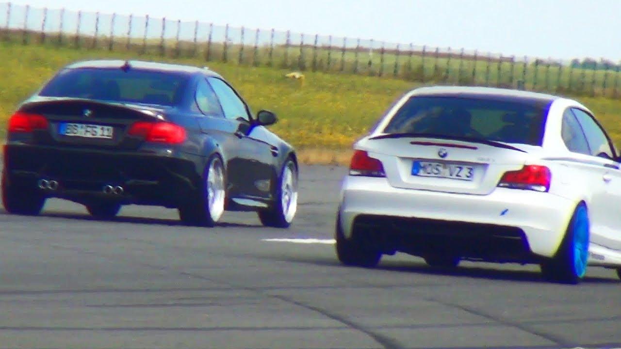 Bmw M3 E92 Vs Bmw 135i Drag Race Viertelmeile Rennen 1 4