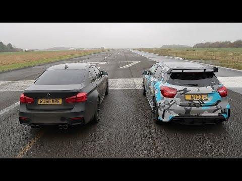 DRAG RACE! BMW M3 VS Mercedes A45 AMG!
