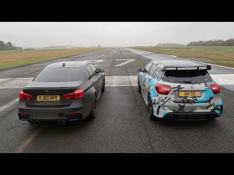DRAG RACE! BMW M3 VS Mercedes A45 AMG!