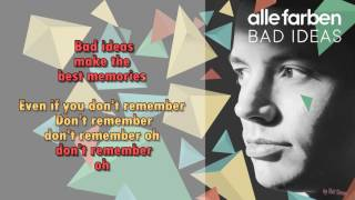 Alle Farben  - Bad Ideas -  Instrumental