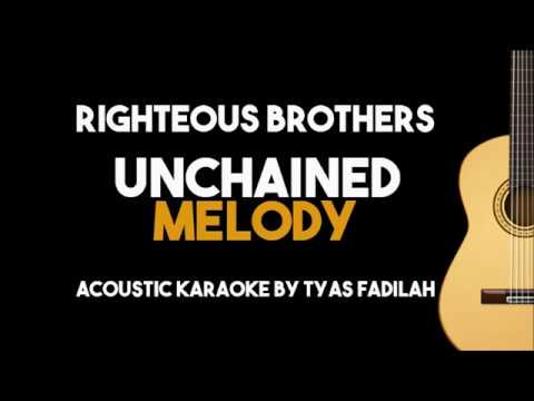 Unchained Melody  Righteous Brothers Acoustic Guitar Karaoke with Lyrics