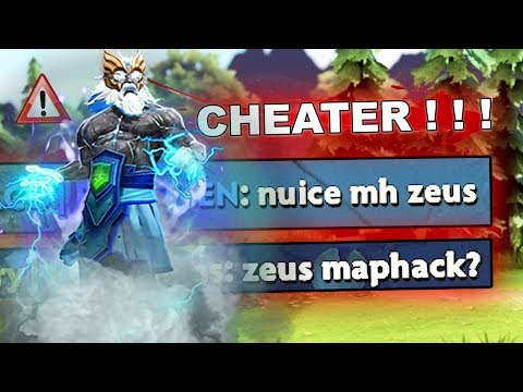 Dota 2 Cheater - ZEUS with NEW CHEATS, MUST SEE!!! 7.26c