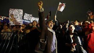 Meksika'da öldürülen 43 öğrenci yine protesto edildi