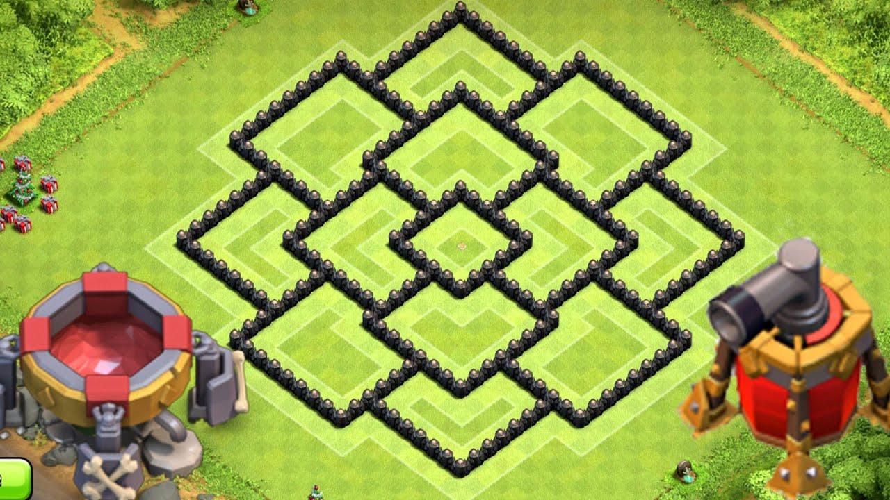 Clash of clans best townhall 8 th8 farming base defense new dark