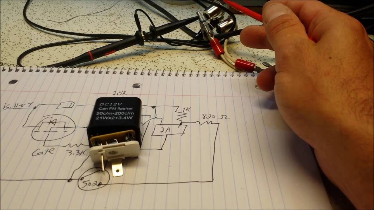12 Volt Flasher Wiring Diagram Teardown Look Inside Of A 12 Volt Electronic Flasher
