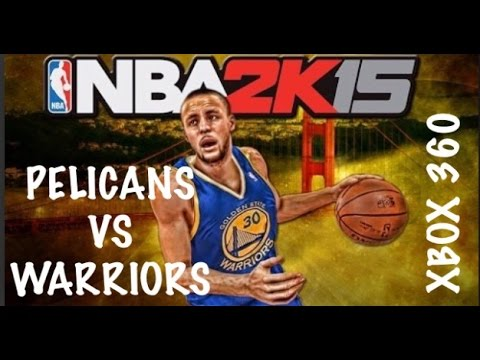 NBA 2k15 Xbox 360 New Orleans Pelicans vs Golden State Warriors Gameplay 1080p HD
