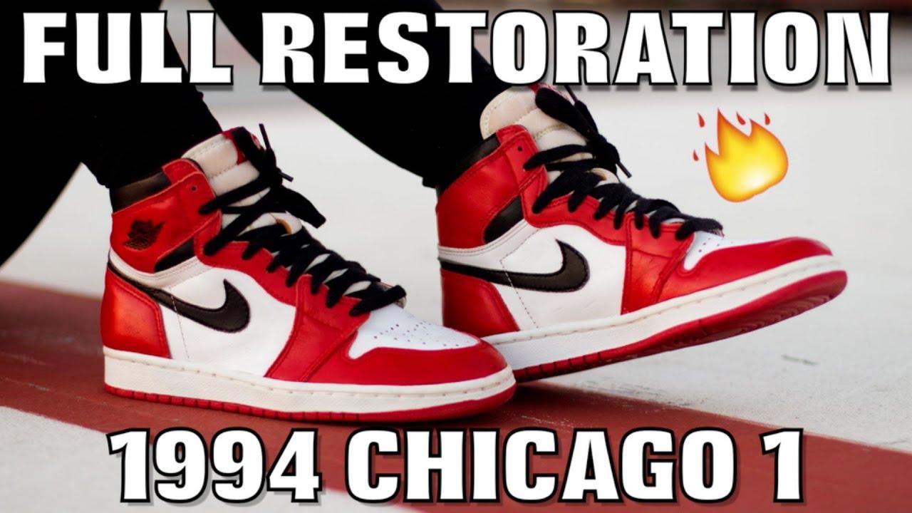 2e1849a4ae4e30 1994 CHICAGO 1 JORDAN FULL RESTORATION! - YouTube