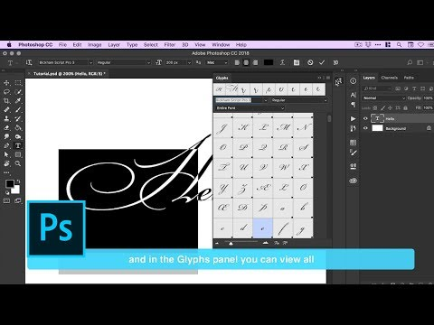 OpenType Ligatures And Stylistic Alternates In Photoshop | Adobe Creative Cloud
