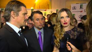 Julie Delpy, Richard Linklater, & Ethan Hawke Dodge Red Carpet Interview -- HFA 2013