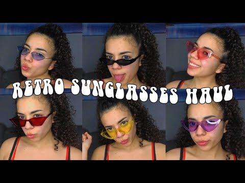 EXTRA TRENDY SUNGLASS HAUL + TRY-ON FROM ALIEXPRESS! (UNDER $2)   *AFFORDABLE AND BOUJEE*