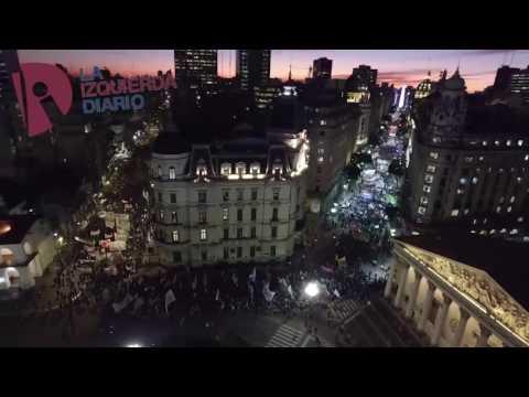 [Drone] PepsiCo: Multitudinario acto contra la represión y los despidos