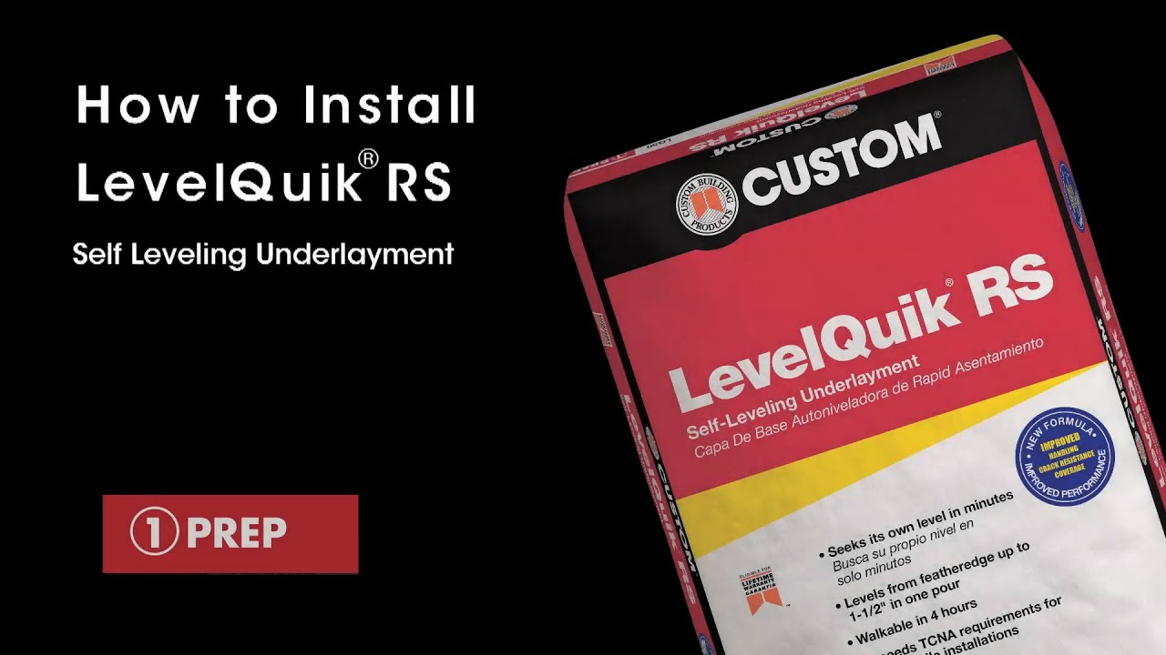 How To Install Levelquik Rs Self Leveling Underlayment