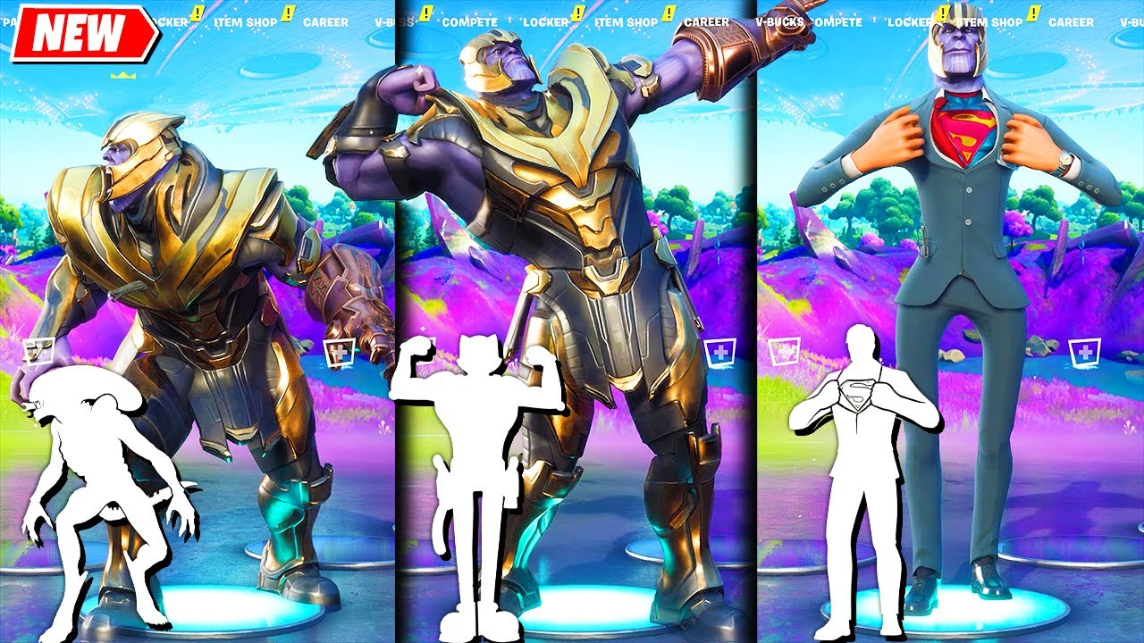 THANOS Coming Back in Fortnite and doing all Built-In Emotes!..