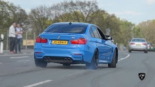 (modified) 2016 bmw m3 f80's revs, burnout, powerslides & more craziness!