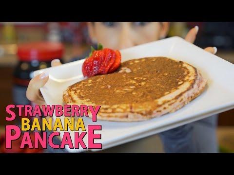 Strawberry Banana Pancake | Healthy & High Protein