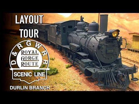 Denver & Rio Grande Western Durlin Branch Narrow Gauge O Scale Layout Tour with Dave Adams On3