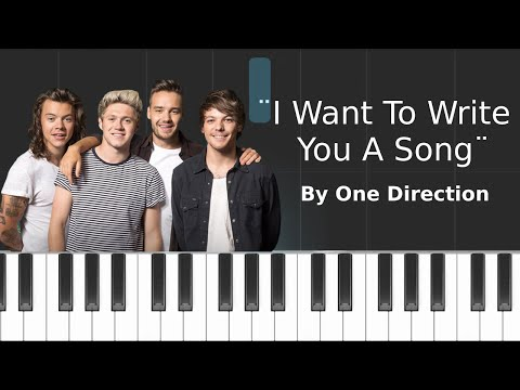 Free Download One Direction - ''i Want To Write You A Song'' Piano Tutorial - Chords - How To Play - Cover Mp3 dan Mp4
