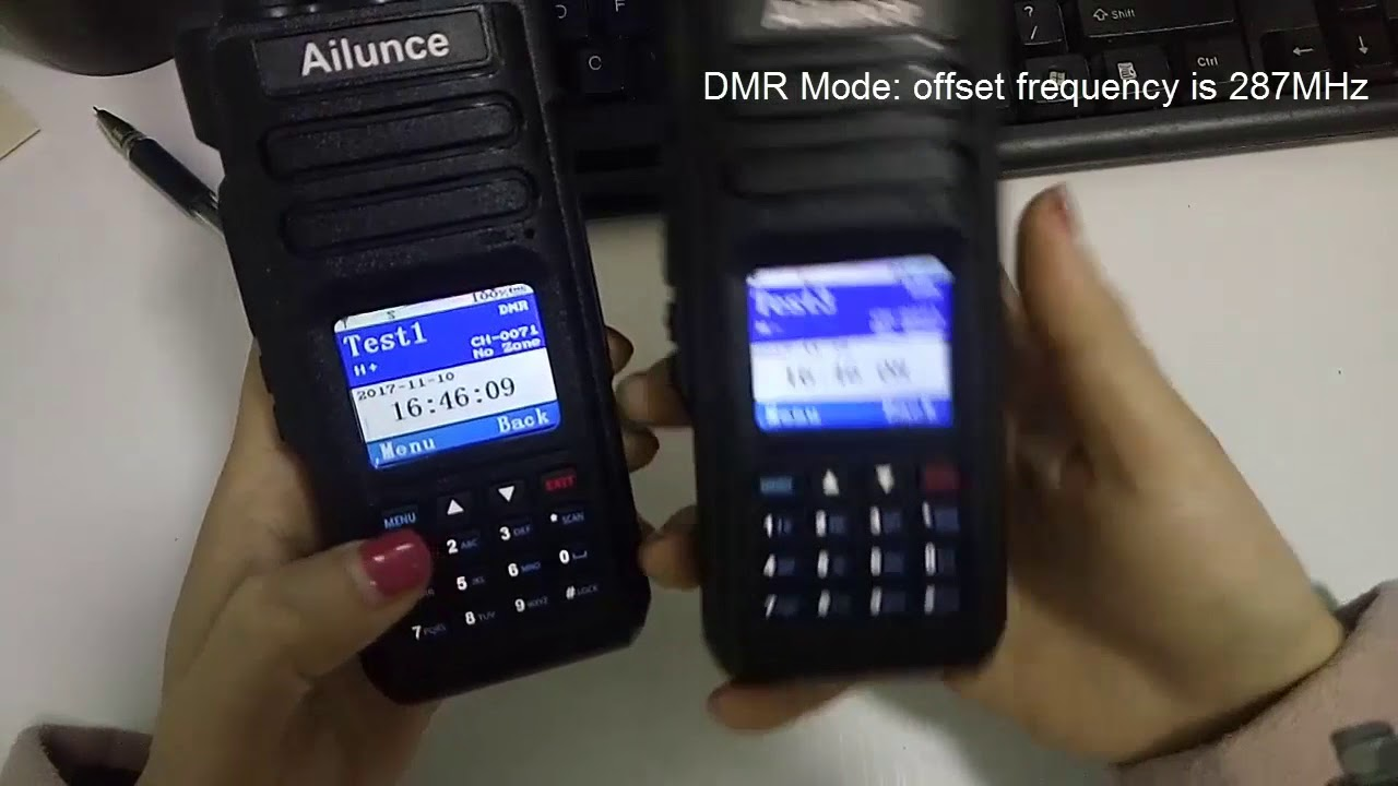 Ailunce HD1: Cross band transmit and receive